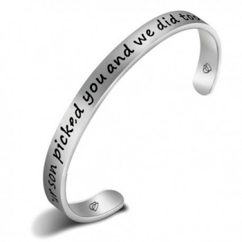 FEELMEM Daughter Bangle Bracelet Perfect - Silver - CD186D97XLQ