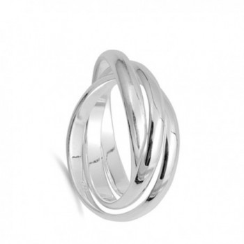 Rolling Wedding Sterling Silver Stacked