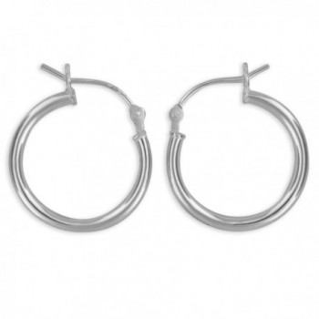 Sterling Silver Hoop Earrings 2mm x 20mm - C5118Y0CRYH