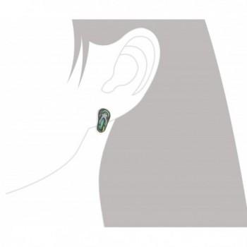 Sterling Silver Abalone Slipper Earrings in Women's Stud Earrings