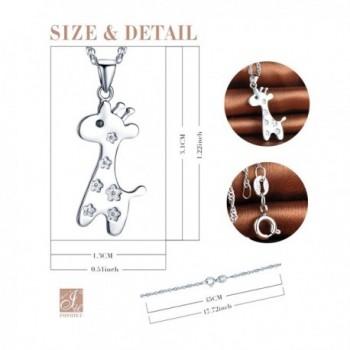 Infinite Giraffe Pendant Sterling Necklace
