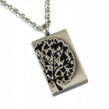Silver Tree of Life Hearts Cremation Urn Keepsake Memorial Stash Pendant Locket Necklace Capsule Jewelry - CF12CGJ5WTN