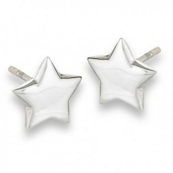 Sterling Silver Star Post Stud Earrings - CY115S9VCRP
