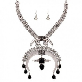 YAZILIND BohemZirconian Statement Necklace Earrings