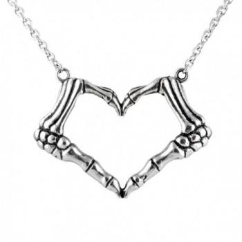 CONTROSE Skeleton bone hand necklace love sign pendant - I LOVE YOU TO DEATH - CR12GK5DS8V