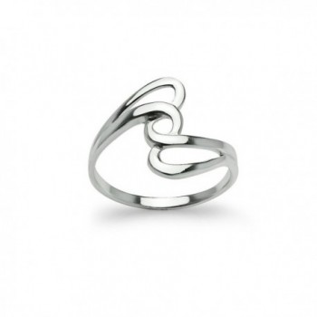 Interlock Knot Twisted Band Ring - Polished Sterling Silver Fine Jewelry Men Women Sizes 5 to 13 - C312MSAGVAR