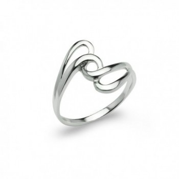 Interlock Knot Twisted Band Ring