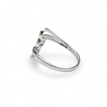 Interlock Knot Twisted Band Ring in Women's Band Rings