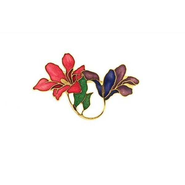 Art Nouveau Style Floral Brooch - CJ110TDBQLH