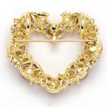 Akianna Gold tone Swarovski Crystals Valentine in Women's Brooches & Pins