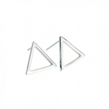 Wicary Geometric Drawing 925 Sterling Silver Earrings Ear Stud Earring for Women - CI127V6I3NX