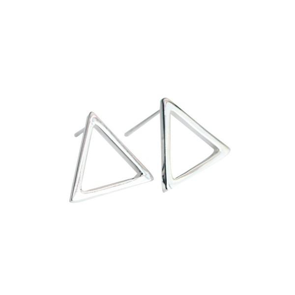 Geometric Drawing 925 Sterling Silver Earrings Ear Stud Earring For Women Ci127v6i3nx