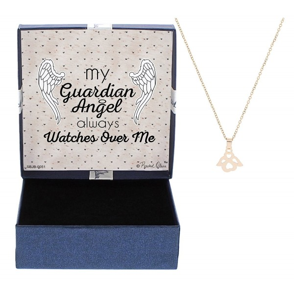 Guardian Angel Memorial Gift Rose Gold-Tone Guardian Angel Necklace Watches Over Me - CR12N3YW5MH
