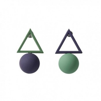 Simple Geometric Triangle Earrings Female Bead Jewelry Earrings Asymmetric - CA186G8RIDZ