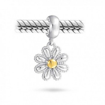 Bling Jewelry Plated Flower Sterling