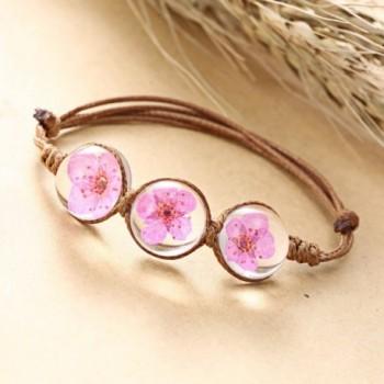 Rinhoo Handmade Gemstone Adjustable Bracelet