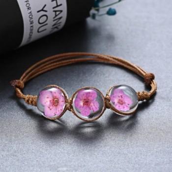 Rinhoo Handmade Gemstone Adjustable Bracelet in Women's Bangle Bracelets