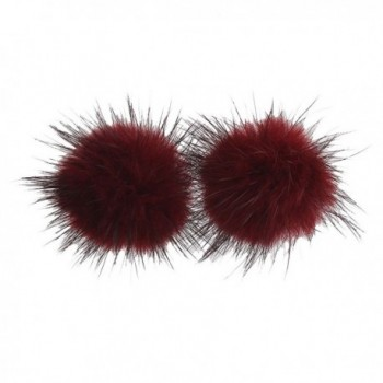 Grace Jun Earrings without piercing - Wine red - CS18428AQE5