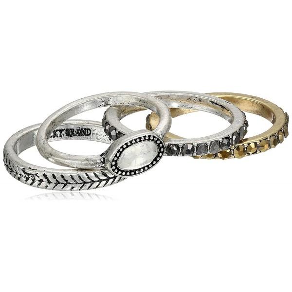 Lucky Brand Womens Organic Stone Stack Ring - Two-Tone - CI11NVBYO95
