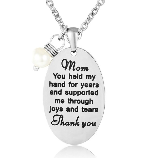 ELOI Mother's Necklace Pearl Pendant Mother's Day Christmas Gift from Daughter Thank You Mom Jewelry - CZ124GON1DF