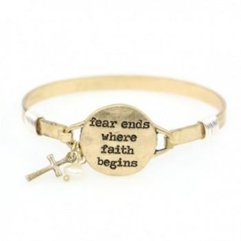 Begins Handmade Beautiful Christian Bracelet - Warm Gold - C0187KSD8CL