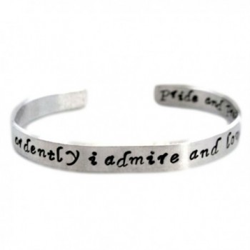 Jane Austen Bracelet - How Ardently I Admire and Love You - 2-sided Hand Stamped Aluminum Cuff - Customizable - CJ11SRQ40LL