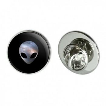 "Alien Head in Space Metal 0.75"" Lapel Hat Pin Tie Tack Pinback - CN184IS00ZA"