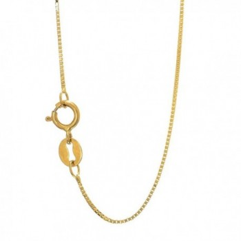 "JewelStop 10k Solid Yellow Gold 0.45 mm Box Chain Necklace- Spring Ring Clasp - 16"" - CT11XSESFT5"
