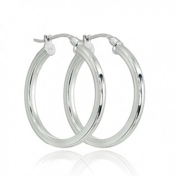 Sterling Polished Square Tube Click Top Earrings