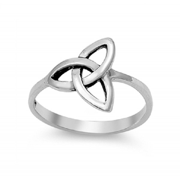Sterling Silver Wicca Triquetra Ultimatum Ring (Sizes 3-15) - CX11OXZUDQV