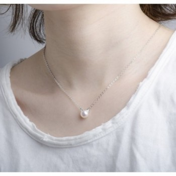 S Leaf Sterling Necklace Freshwater Collarbone