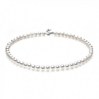 Classic Freshwater Cultured Necklace Princess in Women's Pearl Strand Necklaces