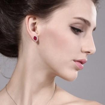 8x6mm Mystic Sterling Silver Earrings