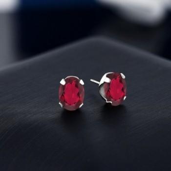 8x6mm Mystic Sterling Silver Earrings in Women's Stud Earrings