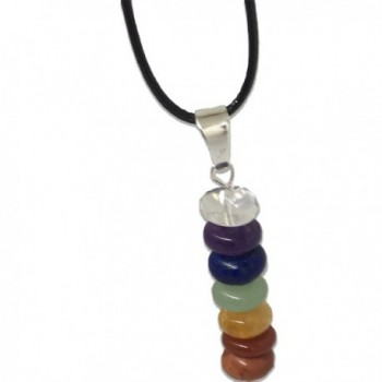 Stone Chakra Necklace Natural Pendent
