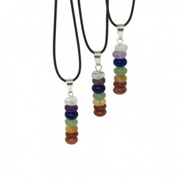 Stone Chakra Necklace Natural Pendent in Women's Choker Necklaces