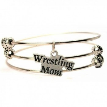Wrestling Mom Expandable Triple Wire Adjustable Bracelet Made In The USA - C211GMC7P9B