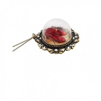 Wizard of Oz Ruby Red Slippers Necklace - CM126XZEQNT