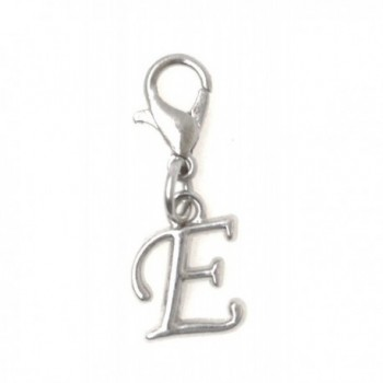 Stainless Steel Lobster Clasp with Alloy Letter- 26 Letter Options A-Z- Initial Clip On Charm - CF186A996U3