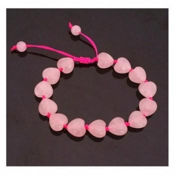Feng Shui Rose Quartz Heart Bracelet for Love (With a Betterdecor Pounch) - C612H1XK0EB