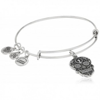 Alex and Ani Calavera Rafaelian Bangle Bracelet - Rafaelian Silver - C312JITSBYH