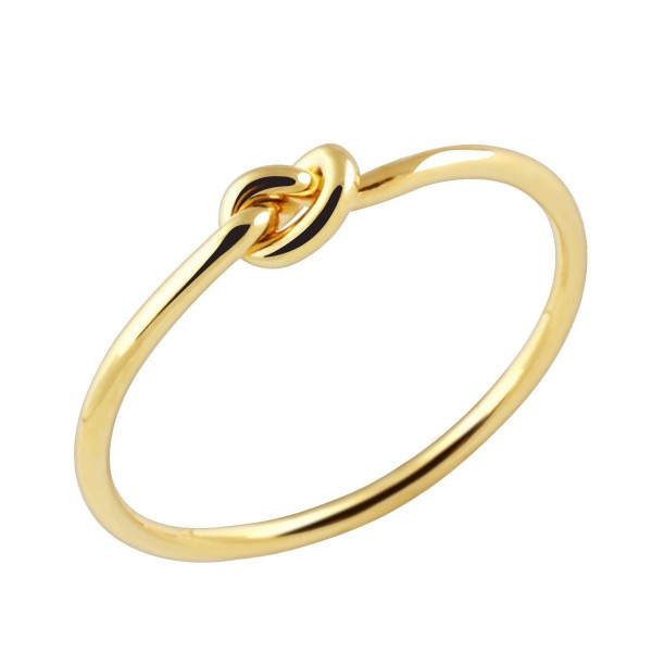 Dainty Tie the Knot Midi Ring in Gold Silver Rose Gold Stacking Knuckle Ring Bridesmaid Gift - Gold - CN18596ZRAN