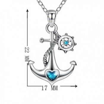 JUFU Sterling Silver Nautical Necklace in Women's Pendants