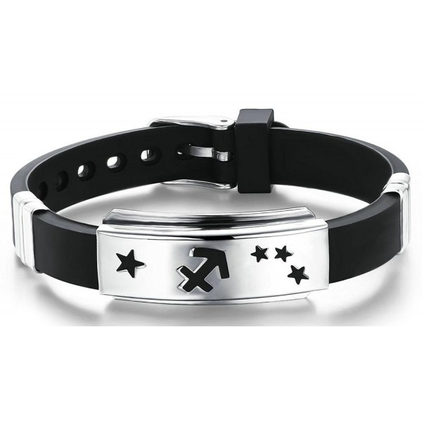 AnaZoz Jewelry His and Hers 12 Constellation Zodiac Sign Logo Charms Bracelet -- Sagittarius - CG11ZQW90HN