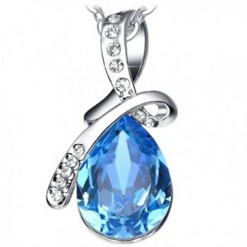 Sapphire Necklace Birthday Anniversary Valentines - Blue - CH124LDXYV5