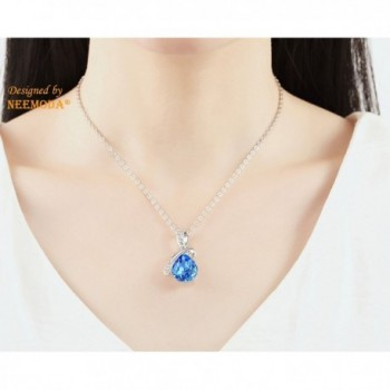 Sapphire Necklace Birthday Anniversary Valentines