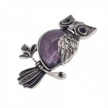 Zhepin Necklace Amethyst Natural Spiritual in Women's Pendants