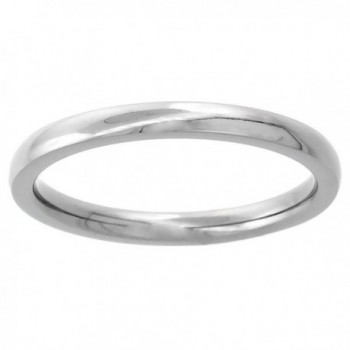 2mm Titanium Wedding Band Thumb Ring / Toe Ring Plain Thin Comfort-Fit High Polish- sizes 1 - 10 - CV115813P5Z