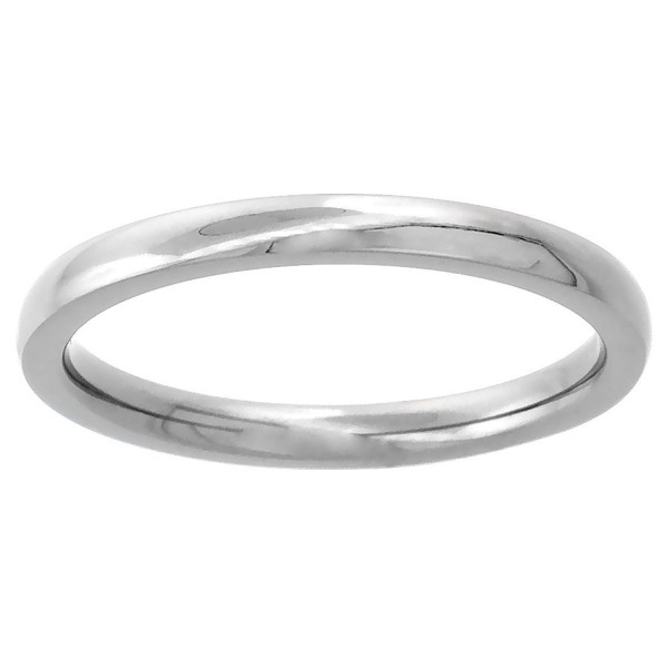 2mm Titanium Wedding Band Thumb Ring / Toe Ring Plain Thin Comfort-Fit High Polish- sizes 1 - 10 - CV115813P5Z