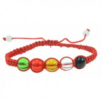5 Elements Hand Made Red String Bracelet - Brings Good Balance and Harmony - CQ11FPWGWYN